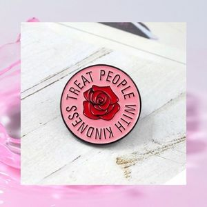 TREAT EVERYONE WITH KINDNESS ENAMELED PIN NEW